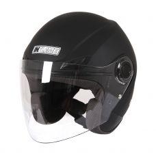Шлем открытый INFLAME PATRIOT моно, черный мато...